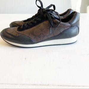 COACH dark brown Rebecca sneaker